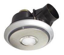 Boreal Small Exhaust Fan With 11W LED Stainless Steel / Cool White - 18247/16