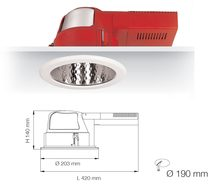 UNI SERIES S9666DF 6 Inch CFL Downlights (Dimmable)