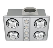 Magnus Quattro LED 3-in-1 Bathroom Mate Heat/Light/Exhaust Fan Silver - BH144ESWSL