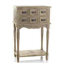 Gabrielle Bedside Table With 6 Drawers