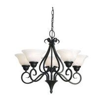 Ashley 5 Light Chandelier Black - MC3725BK