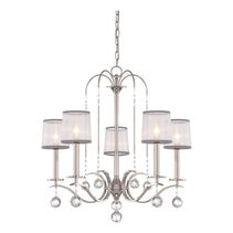 Whitney 5 Light Chandelier Imperial Silver - QZ/WHITNEY5