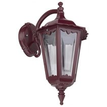Chester Curved Arm Downward Wall Light Burgundy - 15046