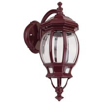 Vienna Curved Arm Downward Wall Light Burgundy - 15964