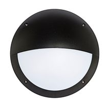 Hardy LED Round Bunker Wall Light with Eyelid - Black