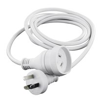 Mains Power Extension Lead Cord With handy Plug White - 5 Meter