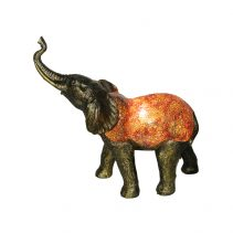 Tiffany Elephant Novelty Table Lamp Amber - TL-07474/T