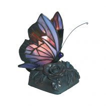 Tiffany Butterfly Table Lamp Purple - TL-818/PB