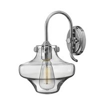 Conrgess Clear Glass Wall Light Chrome - HK/CONGRES1/B CM