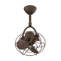 "Diane 13"" AC Ceiling Fan Textured Bronze Metal Blades - DI-TB-MTL"