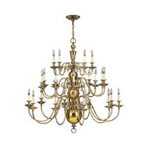 Cambridge 25 Light Chandelier Burnished Brass - HK/CAMBRIDGE25