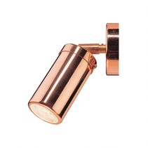 Pagoda 12V / 24V Single Adjustable Wall Pillar Light Polished Copper - LS321A