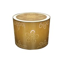 "Lucille Laser-cut Floral 12"" Drum Shade Silver - OL91822"