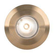 Deka 3 Watt 12V Round LED Deck/Inground Light Brass / White - 19438/19459