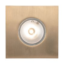 Deka 3 Watt 12V Square LED Deck/Inground Light Brass / Warm White - 19440/19458