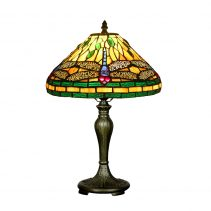 Green Dragonfly Tiffany Table Lamp - JT12T37