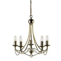 Zanzibar 5 Light Chandelier Antique Brass - LL002CH0015AB