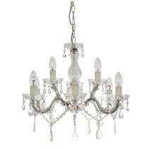 Marte 9 Light  Crystal Chandelier Chrome - MARTE-9 CH