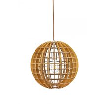 Ribon 1 Light Timber Pendant - RIBON-40