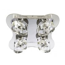 Zodiac 4 Light Flush Mount Light Small Chrome - ZODIAC-4P