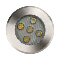 Split 5W 12V DC LED Inground Uplighter 316 Stainless Steel / Cool White - HV1842C