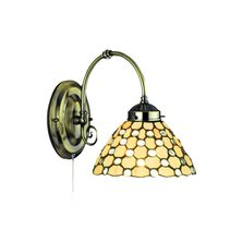 Tiffany Droplet Glass Wall Light Brass - R3141-1B