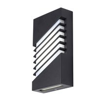 Atrium 6W LED Exteror Wall Light - Black Finish / Cool White