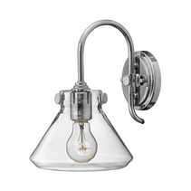 Conrgess Clear Glass Wall Light Chrome - HK/CONGRES1/A CM