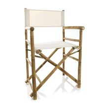 Director Chair In White Canvas