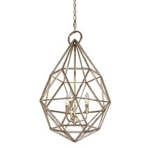 Marquise 3 Light Chandelier Burnished Silver