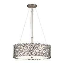 Silver Coral Duo-Mount Pendant Classic Pewter - KL/SILCORAL/P/A