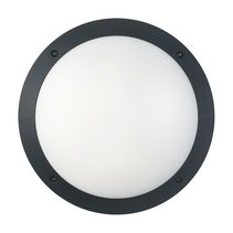 Bulkhead 12W Round Light 4000K Black - Bulk1