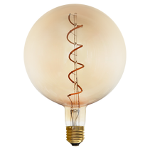 Vintage 4W E27 LED G150 Dimmable Amber Spiral Filament Bulb