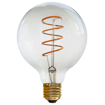 Vintage 4W E27 LED G95 Dimmable Spiral Filament Bulb