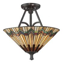 Alcott Large Semi Flush Valiant Bronze - QZ/ALCOTT/SF
