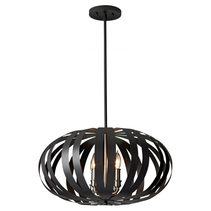 Woodstock Medium Chandelier Textured Black - FE/WOODSTOCK/P/M