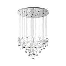 Pianopoli 107.5W LED Pendant Chrome / Warm White - 93661