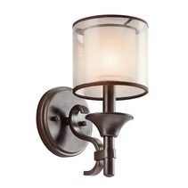 Lacey 1 Light Wall Light Mission Bronze - KL/LACEY1 MB