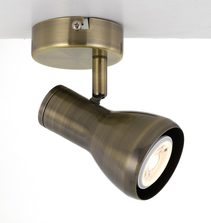 Curtis Single 240V GU10 Spotlight Antique Brass - CURTIS SP1-AB