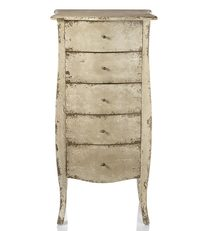 Gabrielle Distressed Side Table 5 Drawers