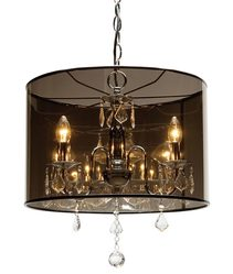 Santiago 3 Light Chandelier Chrome - CE3323