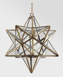 Star 1 Light Brass Pendant