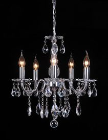 Madeleine 5 Light Crystal Chandelier Chrome / Clear - LL002CH009C