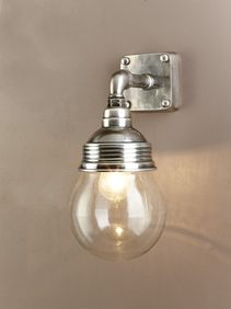 Dover 1 Light Wall Lamp Antique Silver - ELPIM51119AS