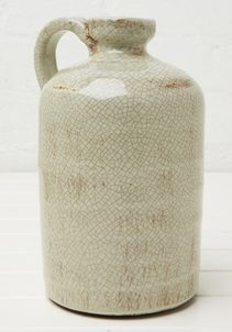 Ceramic Jug - Crackled Green
