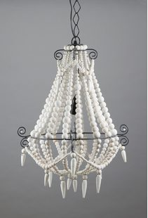 Beaded 1 Light Chandelier Small White - ELAH434SMWHT