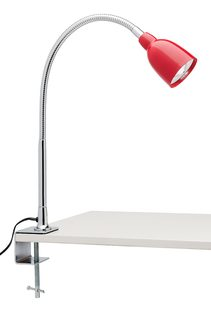 Calais 5W LED Clamp Lamp Adjustable Red - A96241RED