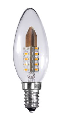 3.5 Watt Dimmable Clear Candle LED Light Bulb Small Edison Screw (E14)