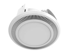 Ultraline LED High Extraction Bathroom Exhaust Fan With 12W LED Light - BE150ESPWH
