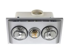 Uniglow LED Bathroom Heater With Exhaust & Light Silver - BS022LSWSL